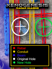 Ground Penetrating RADAR (GPR) Scan of Concrete Slab and Core Hole Relocation.